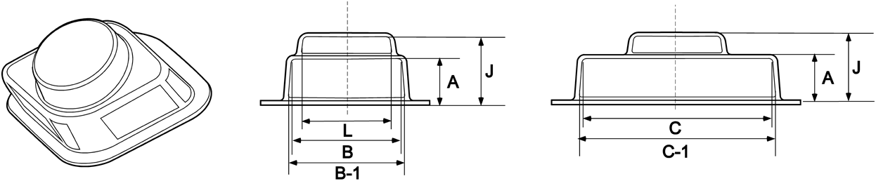 2-Bolt Bearing Cover